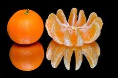 Rijpe mandarijnen Stock Afbeelding