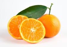 Rijpe mandarijnen Stock Afbeeldingen
