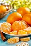 Rijpe mandarins Stock Fotografie