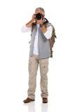 Rijpe mannelijke toerist Stock Foto's