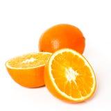 Rijpe oranje geïsoleerdea vruchten Royalty-vrije Stock Foto