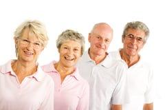 Rijpe oudere mensen in de gymnastiek Royalty-vrije Stock Afbeelding