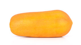 Rijpe papaja op een witte achtergrond Stock Fotografie