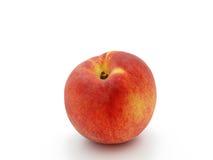 Rijpe perzik op een witte achtergrond Stock Foto
