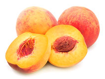 Rijpe perziken Stock Fotografie
