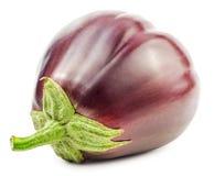 Rijpe purpere geïsoleerde aubergine Stock Afbeelding