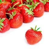 Rijpe rode aardbeien op witte achtergrond Royalty-vrije Stock Afbeelding