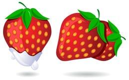 Rijpe rode strawberrys Stock Illustratie