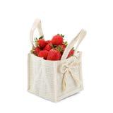 Rijpe sappige aardbeien op een witte achtergrond Stock Afbeelding