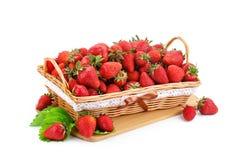 Rijpe sappige aardbeien op een witte achtergrond Royalty-vrije Stock Foto's