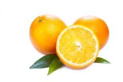 Rijpe sinaasappelen royalty-vrije stock afbeeldingen