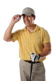 Rijpe Spaanse golfspeler royalty-vrije stock fotografie