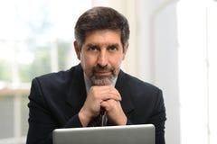 Rijpe Spaanse zakenman Royalty-vrije Stock Afbeelding