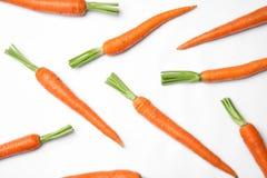 Rijpe verse wortelen stock afbeeldingen