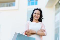 Rijpe Vietnamese vrouw royalty-vrije stock foto