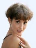 Rijpe vrouw met een halsband stock afbeelding