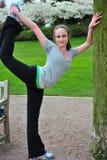 Rijpe vrouwelijke dansersschoonheid Stock Foto
