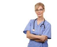 Rijpe vrouwelijke verpleegster stock afbeelding