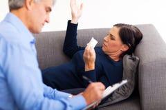 Rijpe vrouwentherapeut Stock Afbeelding