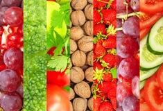 Rijpe vruchten en groenten. Stock Afbeelding