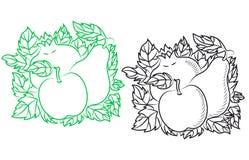 Rijpe vruchten in retro stijl Royalty-vrije Stock Afbeelding