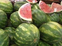 Rijpe watermeloenen royalty-vrije stock foto