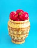 Rijs met rode appelen Stock Fotografie