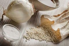 Rijst Basisrecept voor Italiaanse risotto Royalty-vrije Stock Afbeelding