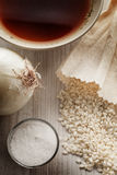 Rijst Basisrecept voor Italiaanse risotto Royalty-vrije Stock Foto