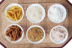 Rijst, Bloem en Deegwaren stock afbeeldingen