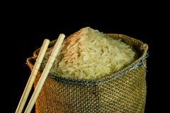Rijst in een zak Stock Fotografie