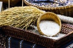 Rijst en aar stock foto