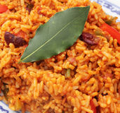 Rijst en groenten stock foto