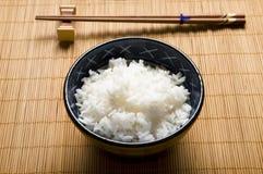 Rijst en kom Stock Foto