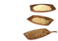 Rijst en linzen Stock Afbeelding