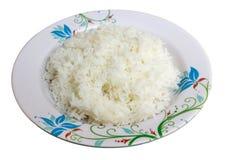 Rijst en schotel Stock Foto