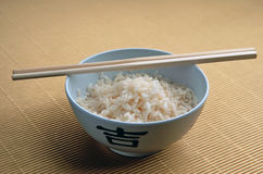 Rijst en stokken Stock Foto