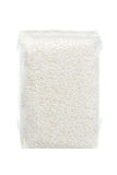 Rijst in gezogen plastic zak wordt ingepakt die Royalty-vrije Stock Afbeelding