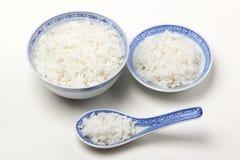 Rijst in kom stock fotografie