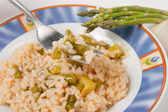 Rijst met asperge Stock Foto