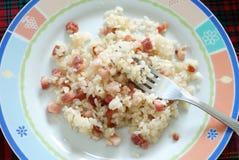 Rijst met bacon Stock Foto