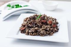 Rijst met calamary Stock Afbeelding