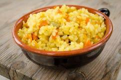 Rijst met groente Stock Afbeeldingen