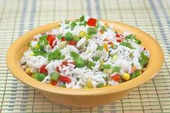 Rijst met groenten. Stock Foto