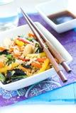 Rijst met groenten Stock Foto