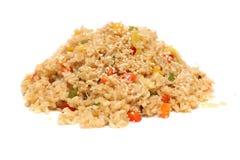 Rijst met groenten - Aziatisch voedsel Stock Fotografie