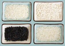 Rijst met het knippen van weg Stock Afbeeldingen