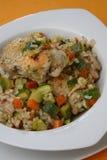Rijst met plantaardige mengeling Stock Foto's