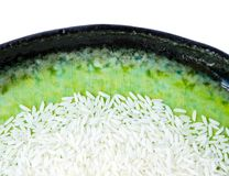 Rijst op plaat Stock Fotografie