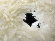 Rijst op spiegel stock foto's
